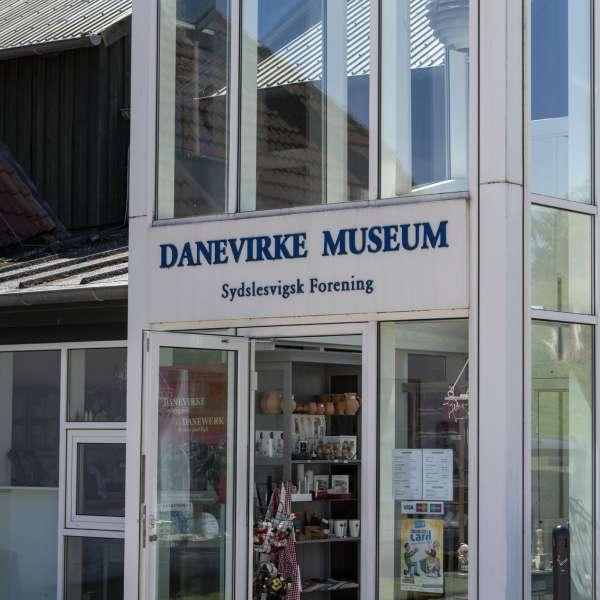 Indgangen til Danevirke Museum i Danevirke ved Slesvig