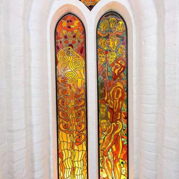Jesu bortgang - mosaik i Helligåndskirken i Flensborg