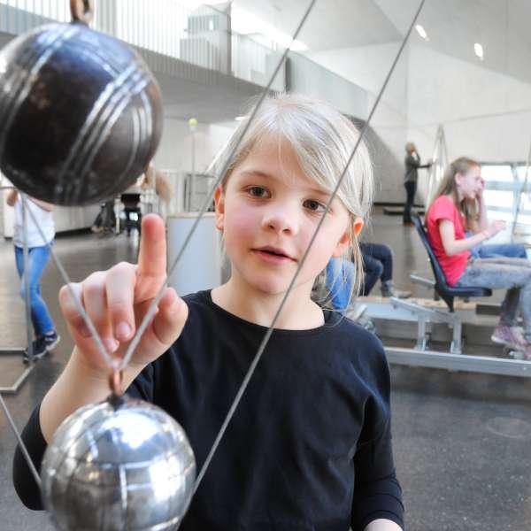 Penduleksperimenterne på Phänomenta i Flensborg