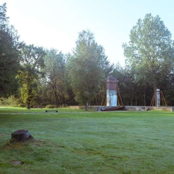 Ruiner på KZ-Gedenkstätte Husum-Schwesing