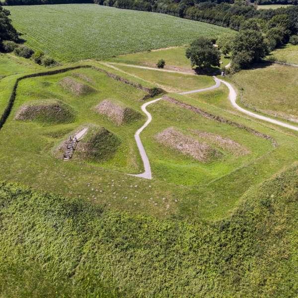 Skansen på Danevirke Museum i Danevirke ved Slesvig