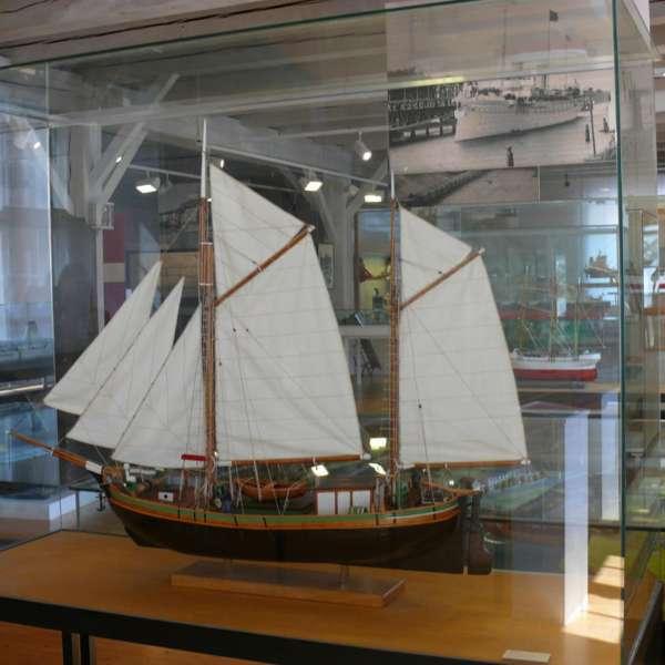 Skibsmodel på Museen im Kulturzentrum i Rendsborg