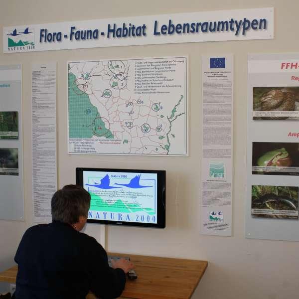 Udstilling om de forskellige naturrum på Naturzentrum Mittleres Nordfriesland i Bredsted