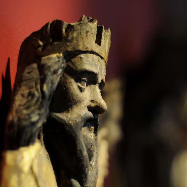 Udstillingsgenstand i udstillingen om kirkelig kunst på Museumsberg i Flensborg