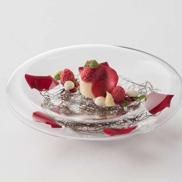 Dessert på stjernerestauranten Meierei Dirk Luther på Vitalhotel Alter Meierhof ved Flensborg