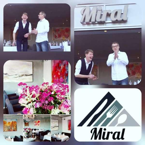 Ejerne Mirko og Ralf Jessen på restauranten Miral i Egernførde