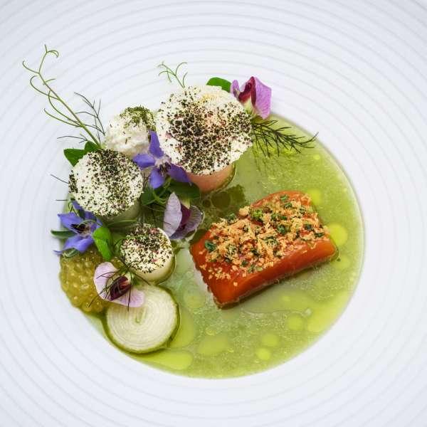 Fiskeret på stjernerestauranten Söl'ring Hof i Rantum på Sild