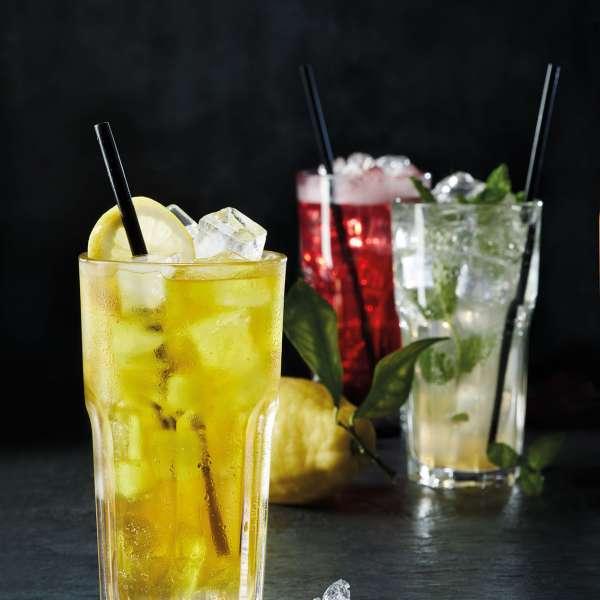 Forskellige lemonader på Peter Pane Burgergrill & Bar i Flensborg