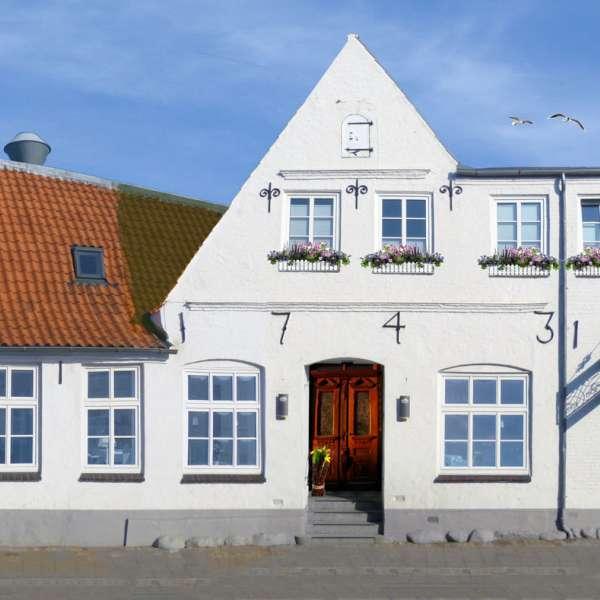 Restauranten Handwerkerhaus i Husum set udefra