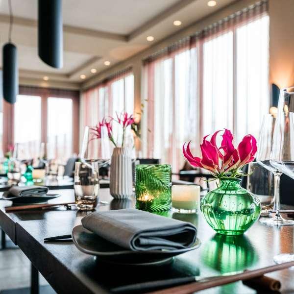 Restauranten Spices by Tim Raue i ferieresorten A-ROSA på Sild set indefra