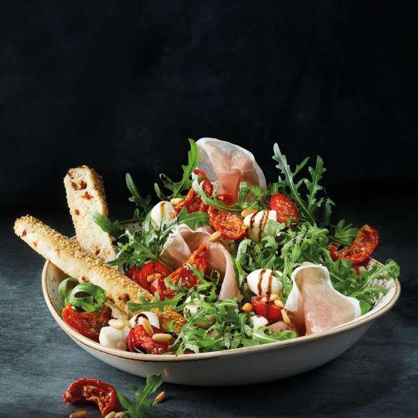 Salat på Peter Pane Burgergrill & Bar i Flensborg