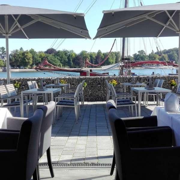 Terrassen på restaurant Miral i Egernførde