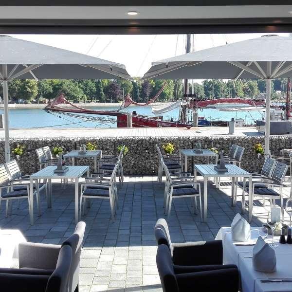 Terrassen på restauranten Miral i Egernførde
